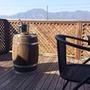 K様宅にテーブル用樽を入れました。