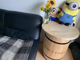 プレゼント樽テーブル