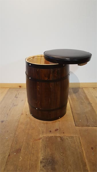 <big><strong>クッション付きイス樽・ブラウン<br/>(chairbarrels)</big></strong>