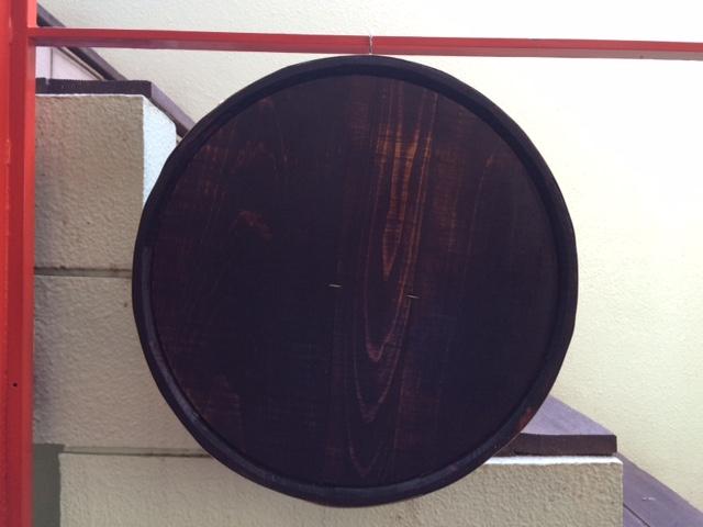 壁掛けカット木樽6O-K 6号サイズ